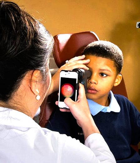 A Smart Phone App Detects the Vision Problems in Kids