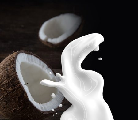 Coconut milk is a product with a delicate aroma